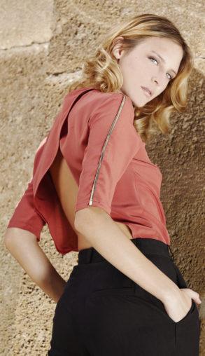 Grace bodysuit in silk