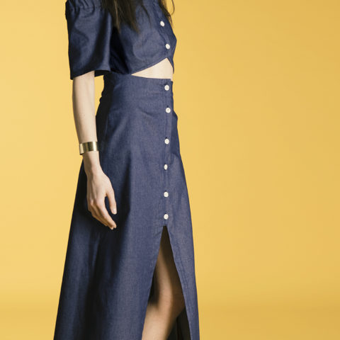 Alaia long dress Denim