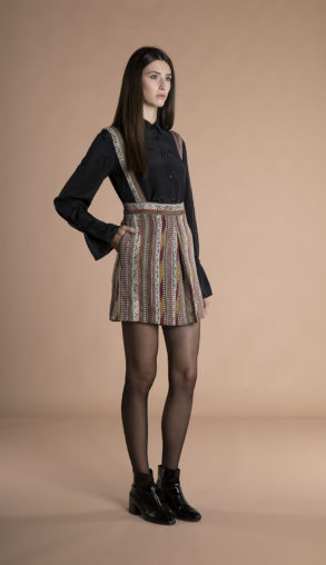 Josie mini Skirt with removable suspenders