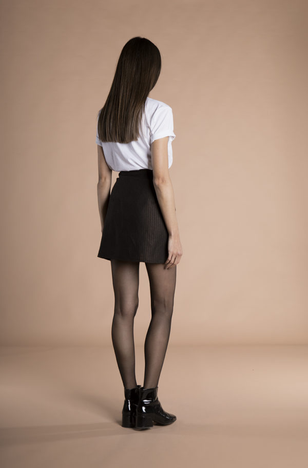 Sienna Wrap Mini Skirt hemp + wool