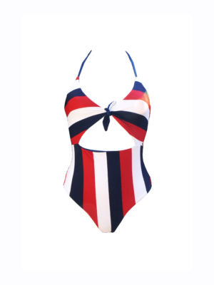 Knotty Swimsuit stripes