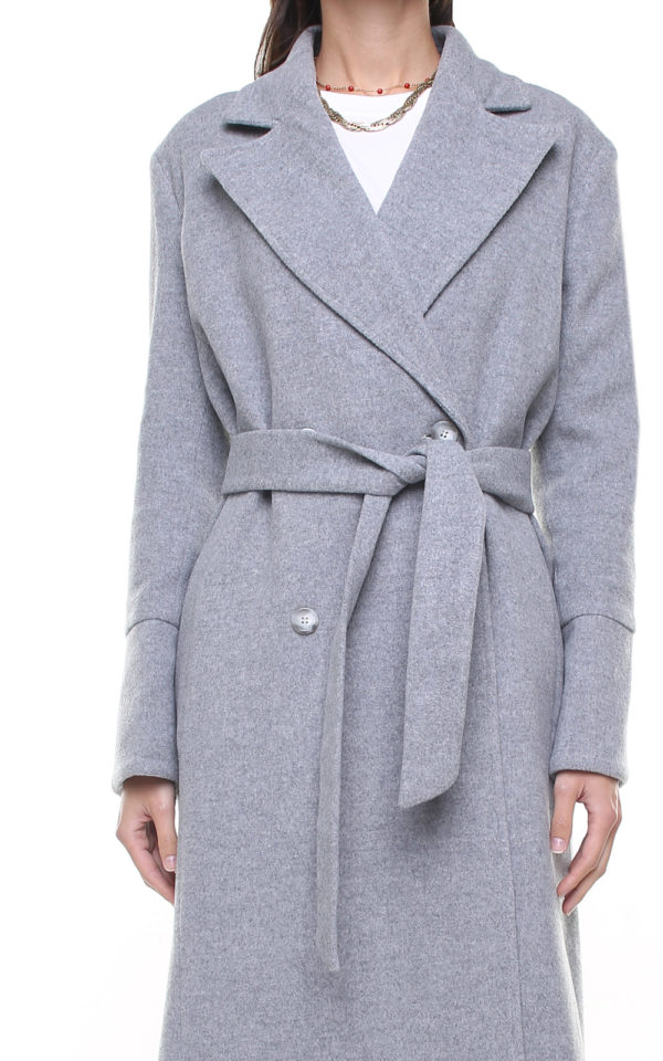 Valentina wool and cashmere coat Grey