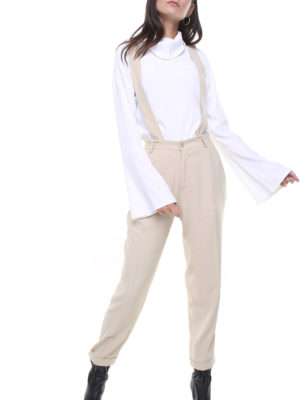 Jane trousers light beige w/ removable suspenders