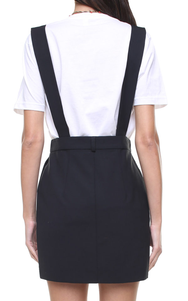 Mia Skirt black w/ removable suspenders