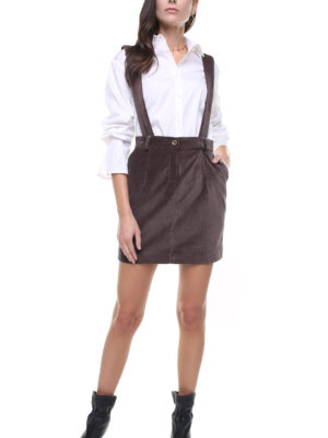 Mia Skirt velvet w/ removable suspenders
