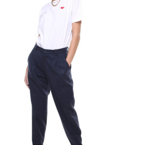 Jane trousers wool and cashmere w/ removable suspenders