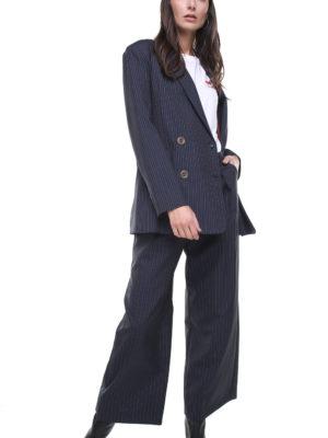 Margot Jacket Pinstriped Blue