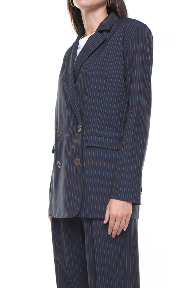 Margot Jacket Pinstriped Blue