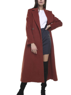 Valentina wool and cashmere coat rust