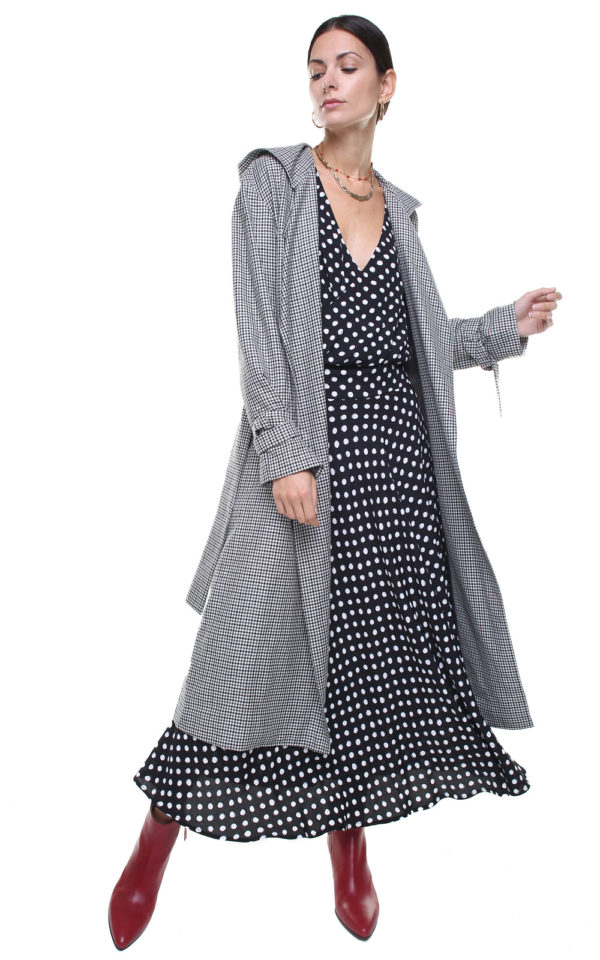 Eva Trench Coat checks
