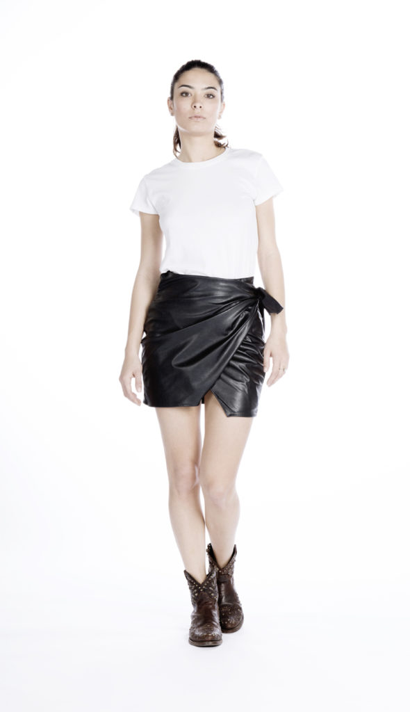 Sienna Wrap Skirt dark blue