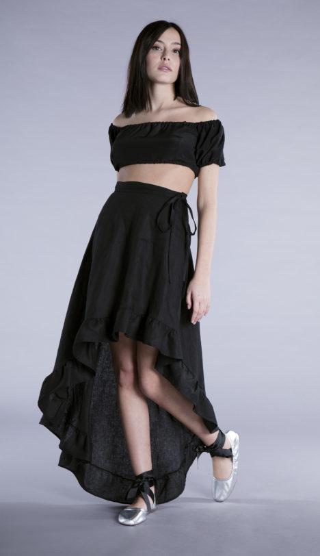 agnes skirt black linen