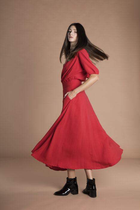 Gina Skirt Red