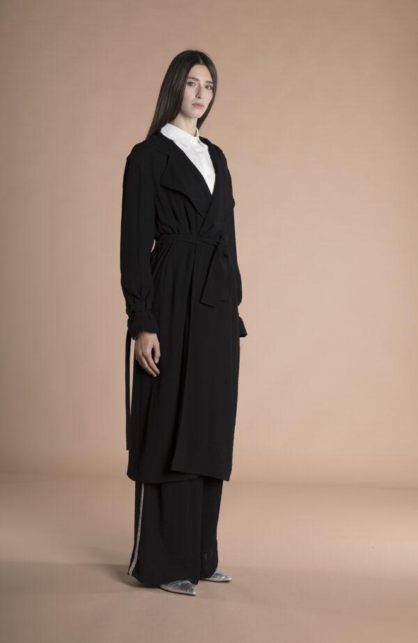 Eva Trench Coat Black