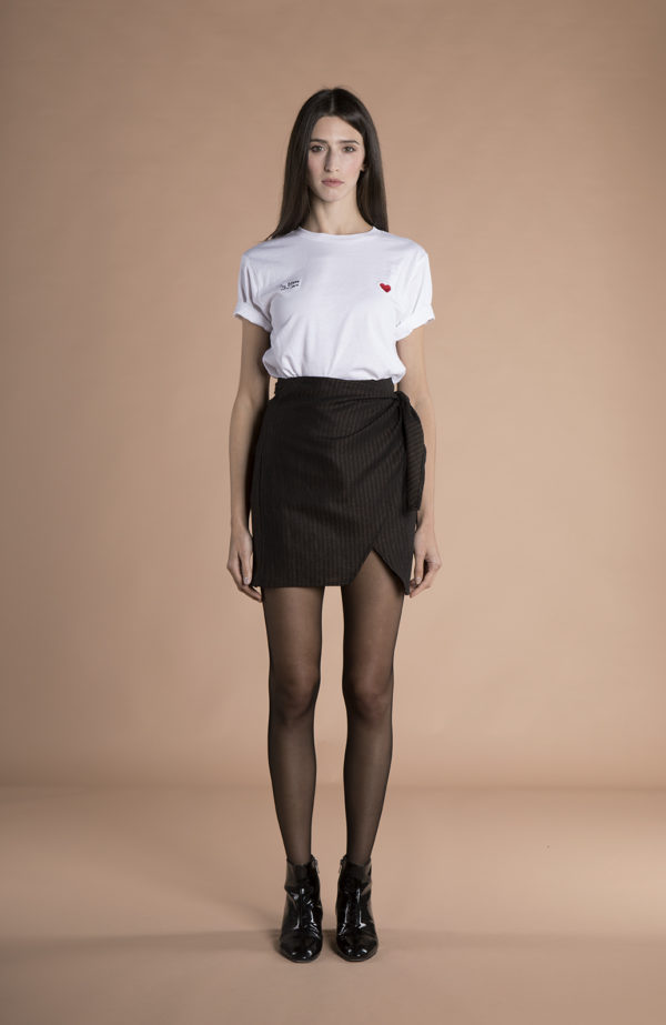 Sienna Wrap Mini Skirt hemp + wool