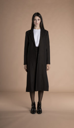 Corinne Long Blazer wool + hemp