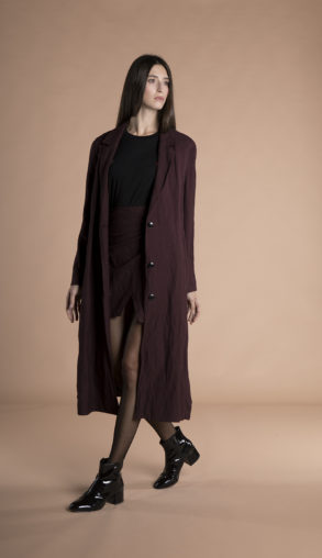 Corinne Long Blazer Burgundy