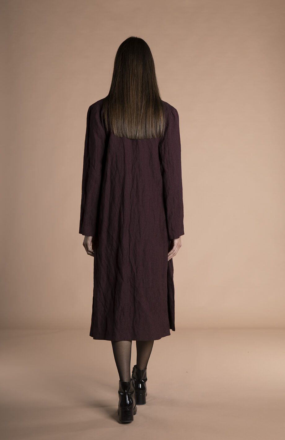 Corinne Long Blazer Burgundy