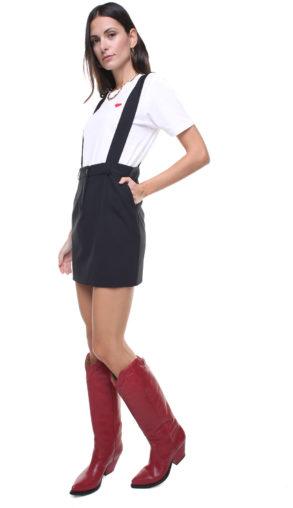 Mia Skirt black w/ removable suspenders