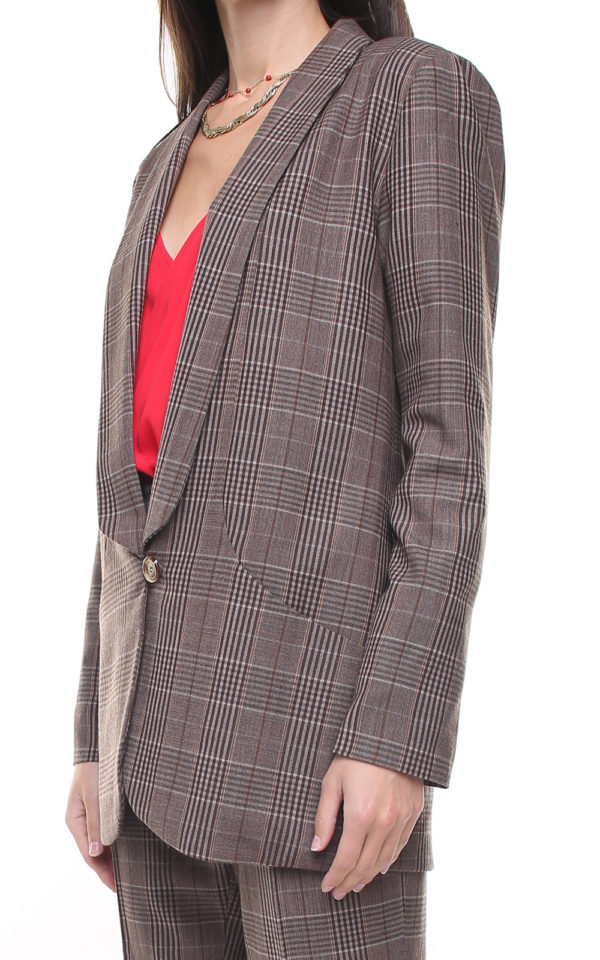 Savana Jacket Brown Plaid