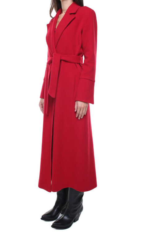 Valentina wool and cashmere coat Red