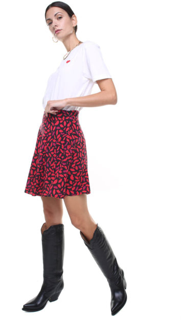 Gigi Skirt kiss print