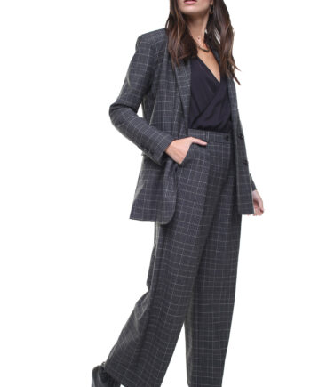 Margot Jacket Grey Checks