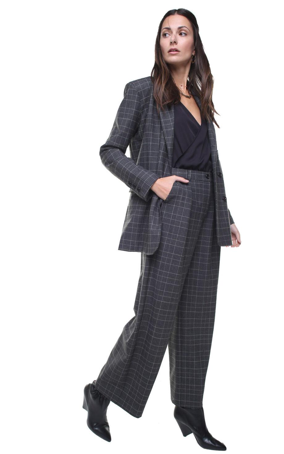 Margot Jacket Grey Checks