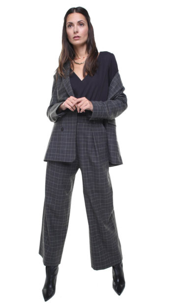 Isabel Pants Grey Checks