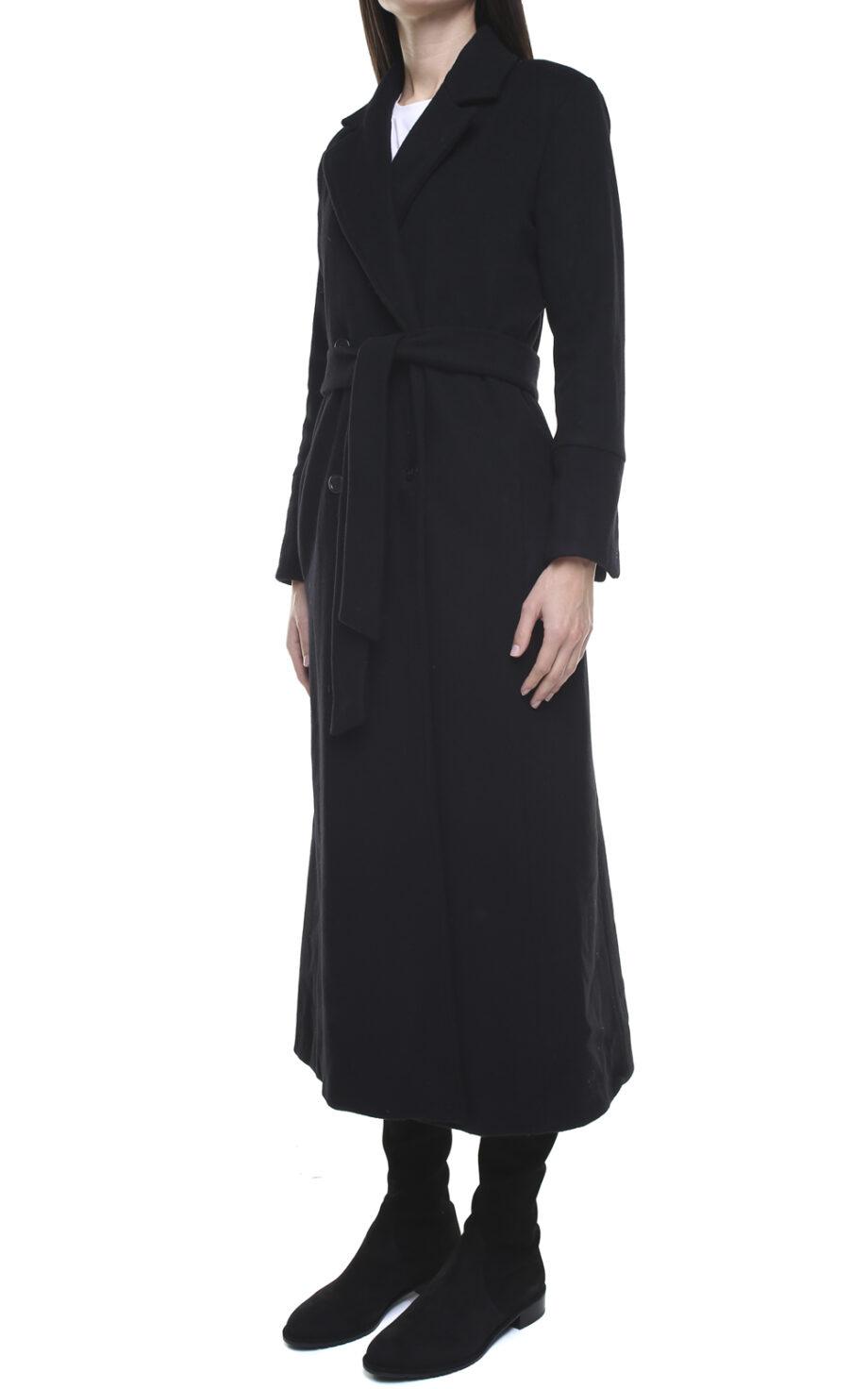 Valentina wool and cashmere coat black