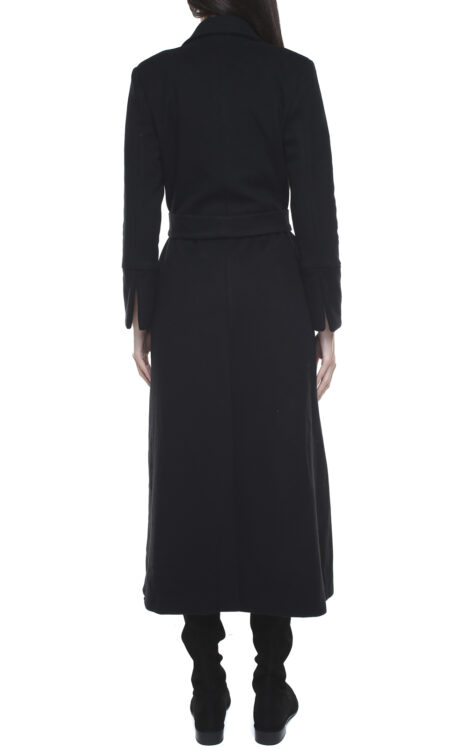 Valentina wool and cashmere coat black