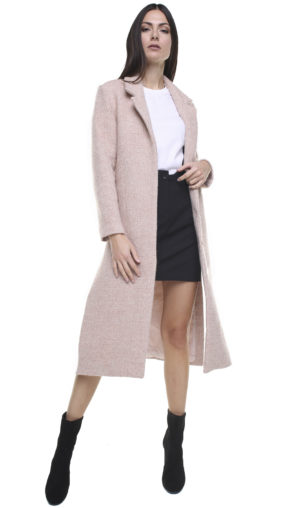 Corinne Long Blazer Pink melange