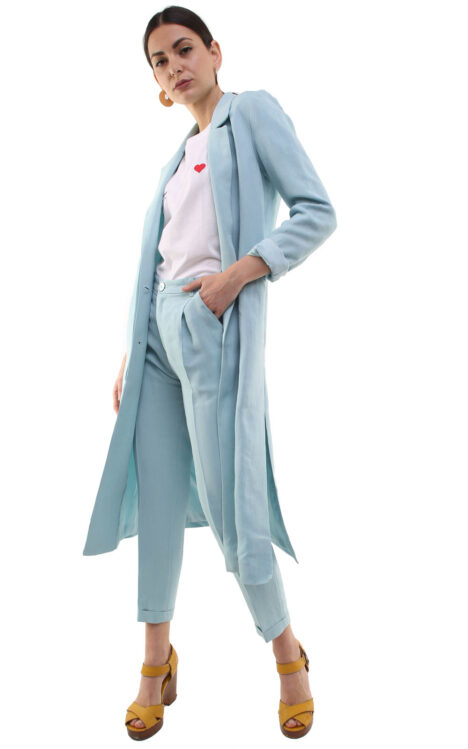Corinne Long Blazer Baby Blue
