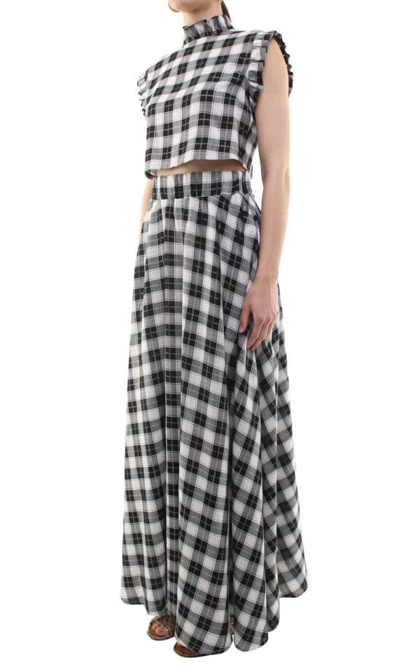 Flora skirt checks