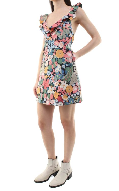 Niki short dress flowers
