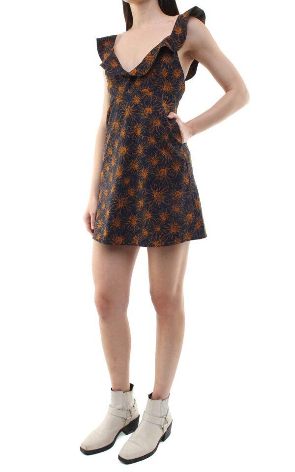 Niki short dress blue/flowers
