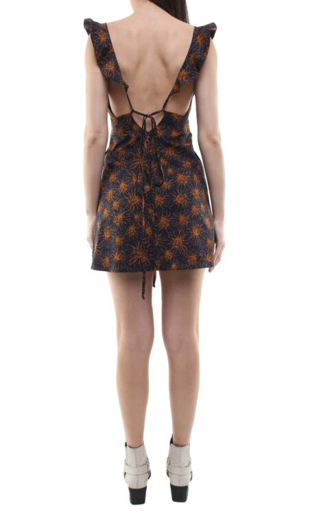 Niki short dress blue/flowers