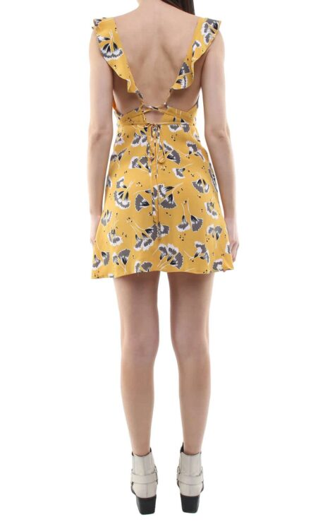 Niki short dress yellow