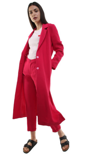 Corinne Long Blazer Strawberry Pink
