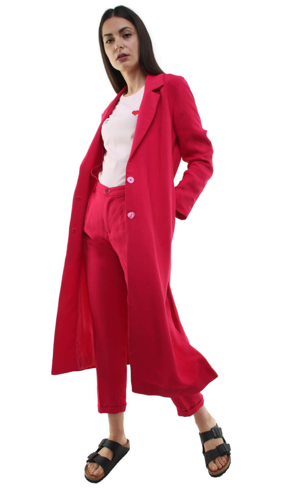 Corinne Long Blazer Strawberry Pink