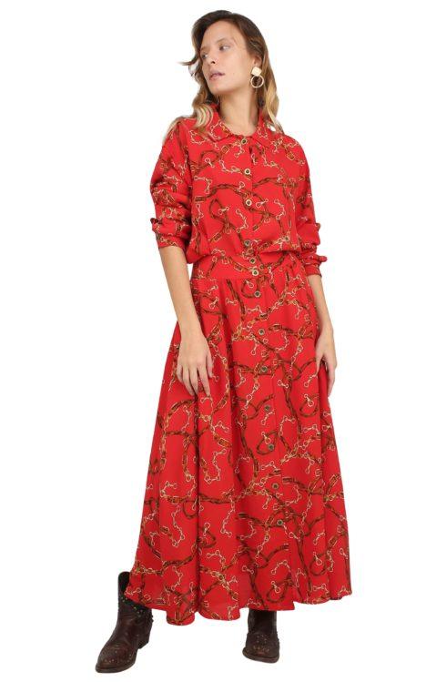 Rocio Skirt red