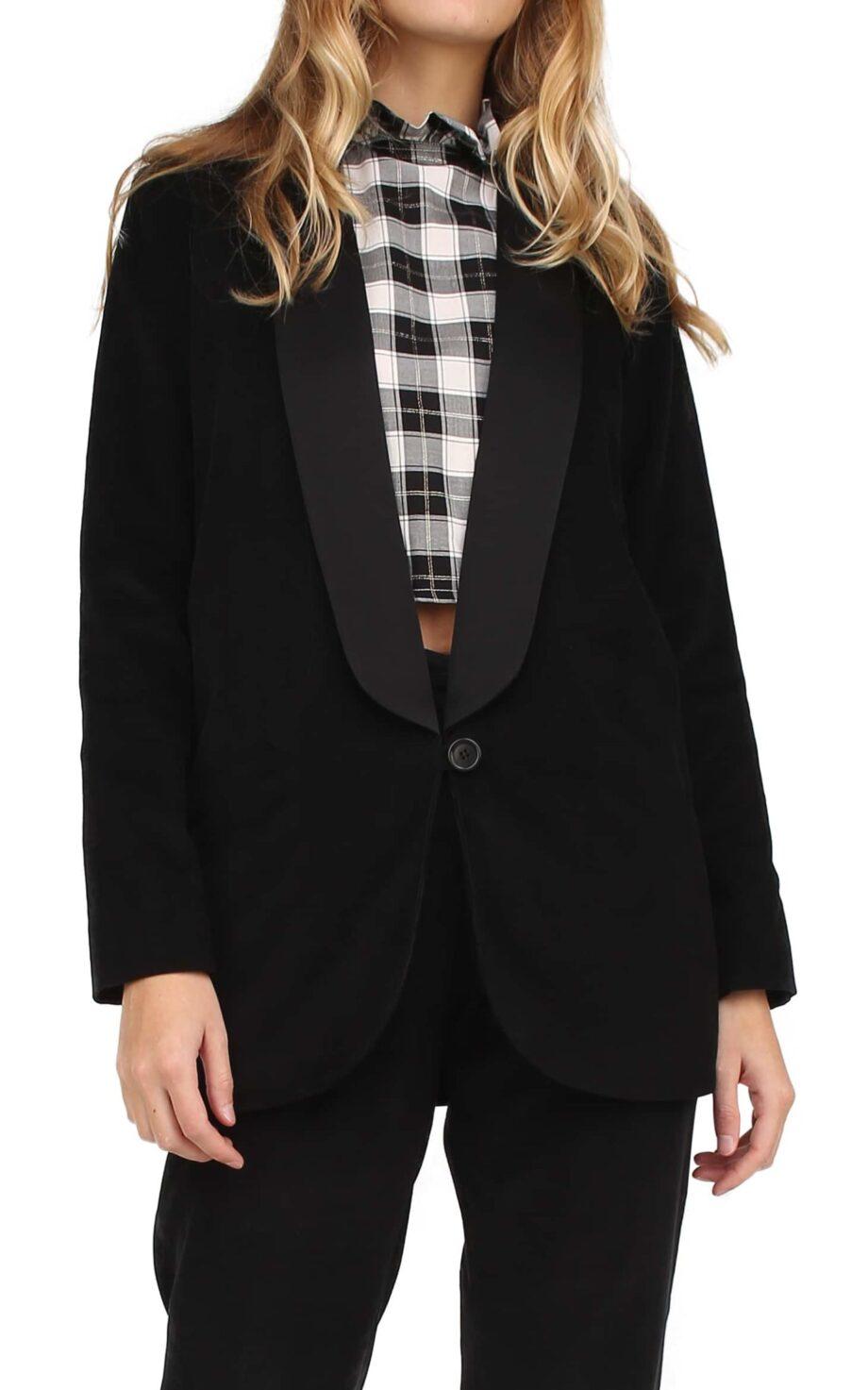 Savana Jacket Black thin corduroy