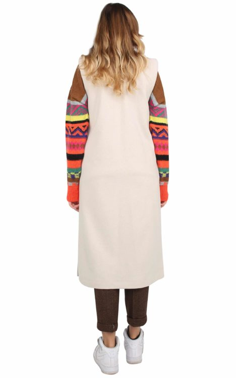 Irene long Gilet Wool and Cashmere