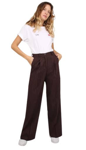 Isabel pants pinstripe lurex