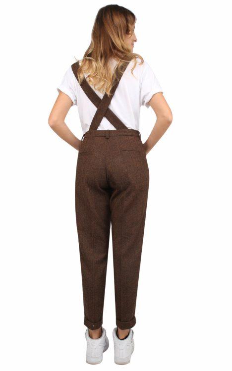 Jane trousers herringbone wool