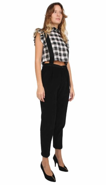 Jane trousers black thin corduroy