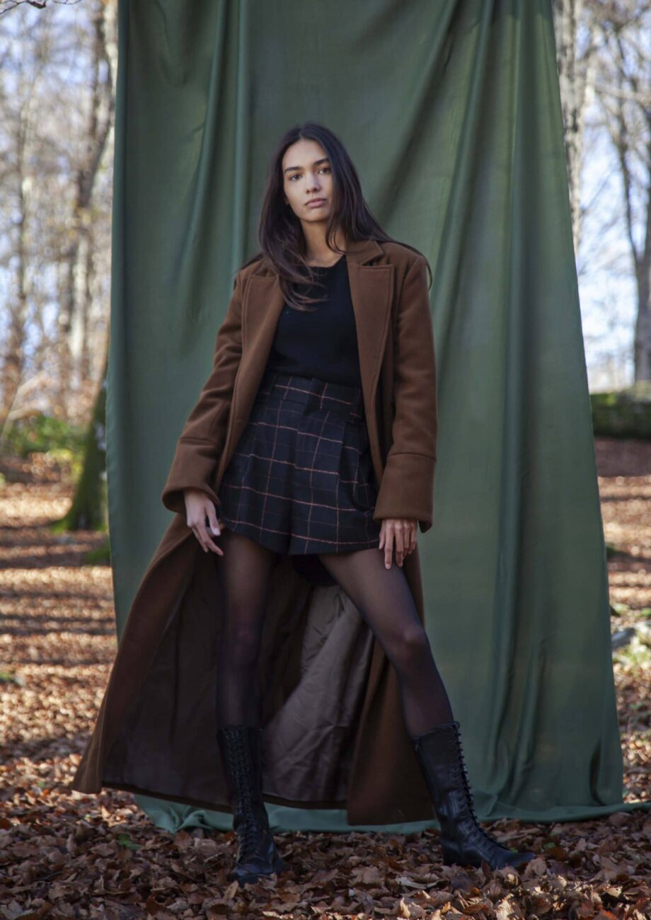 Valentina wool and cashmere chocolate brown