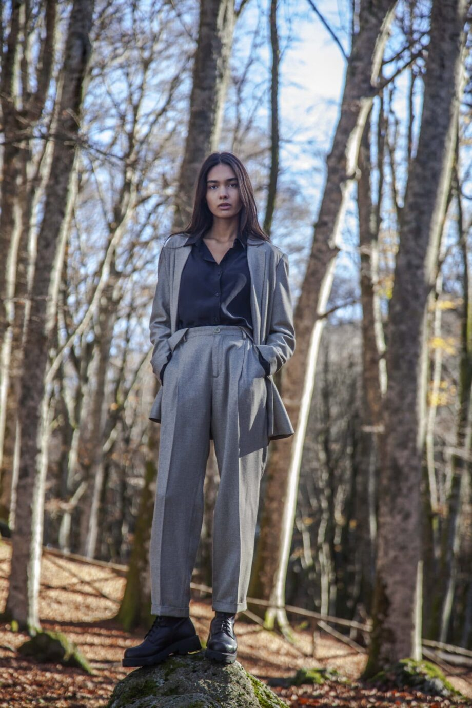 Jane trousers silk and wool