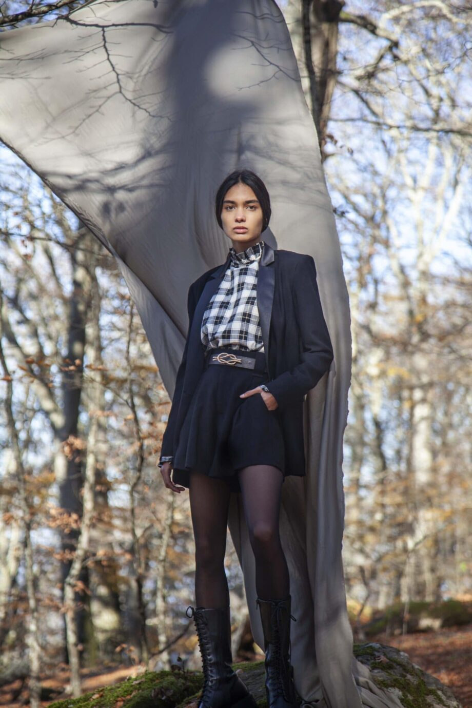 Isabel Jacket black satin