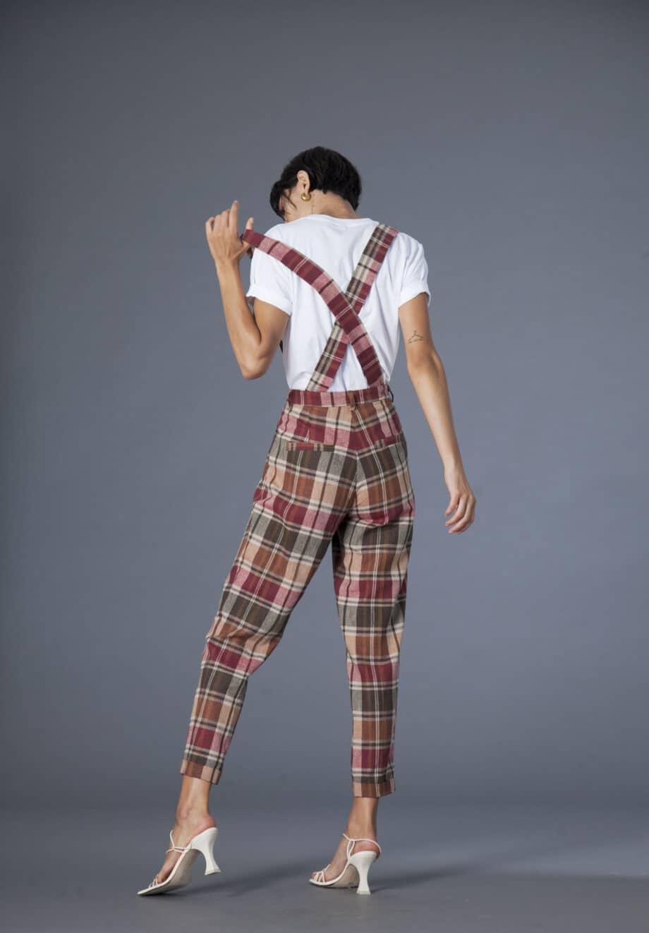 Jane trousers checks cotton